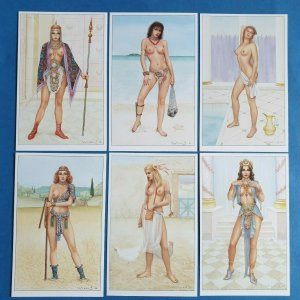 Set of 6 Art Fantasy Postcards Temple Maidens (Set 2) by Jeff Willis Geoff White