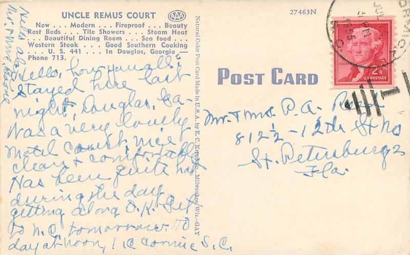 Linen Roadside Postcard