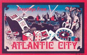 New Jersey Atlantic City Greetings From