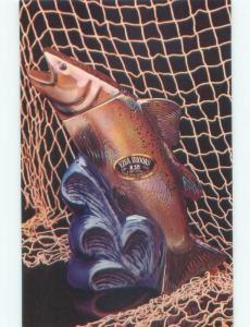 Pre-1980 Postcard - Ezra Brooks Fish Decanter - Not An Actual Decanter E5881