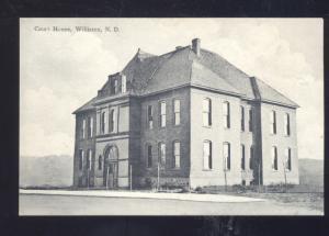 WILLISTON NORTH DAKOTA COUNTY COURT HOUSE VINTAGE POSTCARD ND