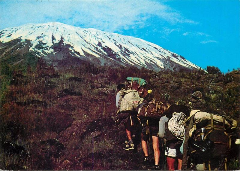 Mt. Kilimanjaro where you can walk to the top Kenya butterfly stamp