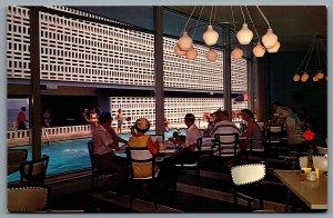 Postcard Virginia Beach VA c1960s The Thunderbird Motor Lodge Pool Interior View