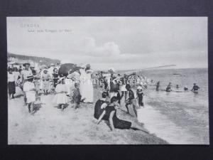 Italy: GENOVA Saliti dalla Spiaggia del Mare - Old Postcard