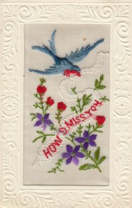 EMBROIDERED, 1900-10s; How I Miss You