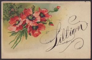 Lillian,Flowers Postcard