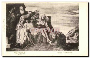 Old Postcard Verona Paolo Veronese