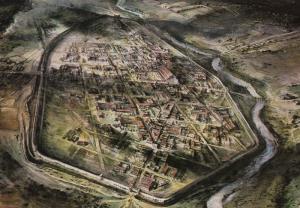 Verulamium Roman Town St. Albans England UK Panoramic Alan Sorrell Postcard D31
