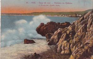 France Nice Coup de mer Rochers du Chateau