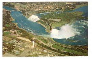 Aerial, Niagara Falls, New York and Ontario