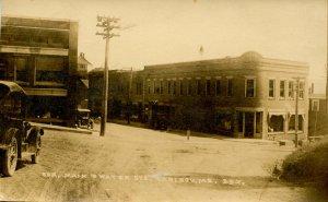 ME - Caribou. Corner of Main & Water Streets circa 1923.   RPPC