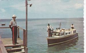 Harbour Police Launch at Jetty, St Michael, Barbados, West Indies, 1965