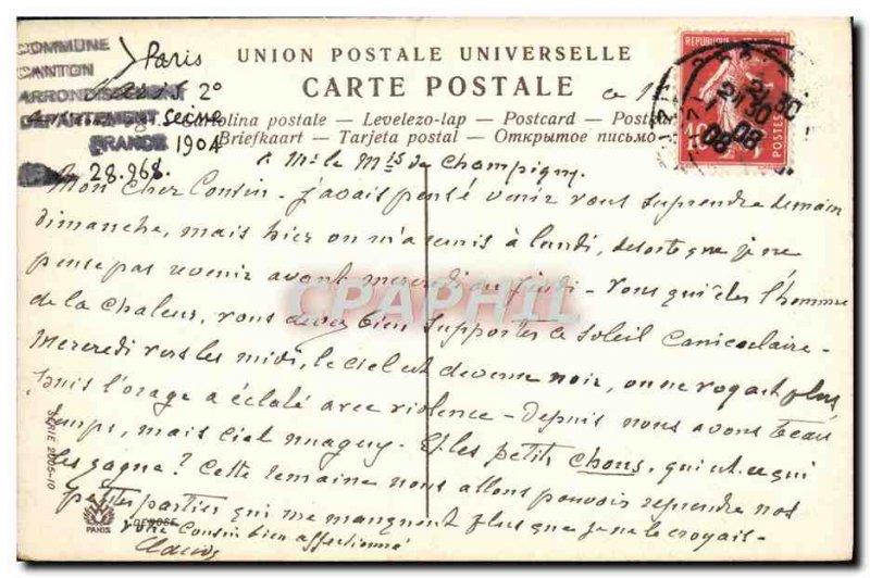 Old Postcard Paris Rue De La Paix
