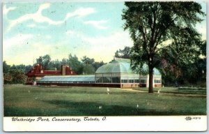 Toledo, Ohio Postcard Walbridge Park Conservatory Building View 1909 Cancel