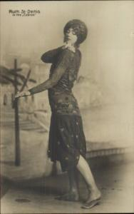 Ruth St. Denis Modern Dance c1910 Real Photo Postcard #3 The Cobras