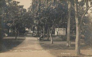 RP: DECATUR , Michigan , 1912 ; Public Park ; C.R. CHILDS