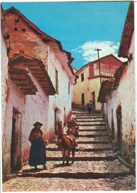 Most Typical Cusco Street, CUSCO, PERU, unused Postcard