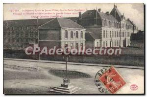 Postcard Old Troyes Lycee of New Jennes Girls