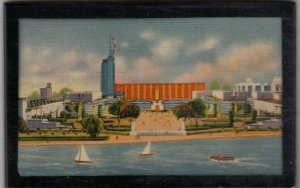 CHICAGO , Illinois , 1933 Exposition, Wood hanging Postcard