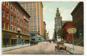 Madison Street Scene Toledo Ohio 1908 postcard