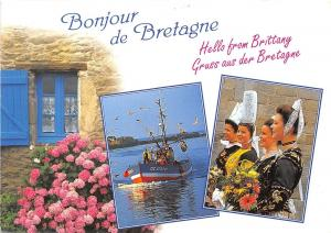 B50876 Breatgne boats bateaux traditionale suites cosrumes de fete multi  france
