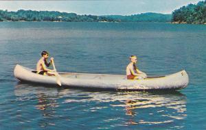 ACWORTH, Georgia, 40-60´s; Canoeing at Camp Kiwanis