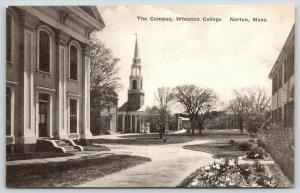 Norton Massachusetts~Wheaton College Campus~Cole Memorial Chapel~c1940 B&W