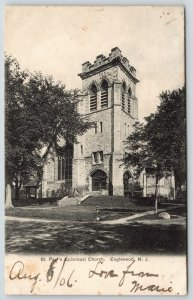 Englewood New Jersey~St Paul's Episcopal Church~1906 B&W Postcard