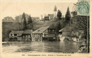 CPA Champagnole- Scieries et Tanneries sur l'Ain FRANCE- (1044291)