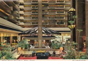 Regency Hyatt House Hotel Lobby Atlanta Georgia