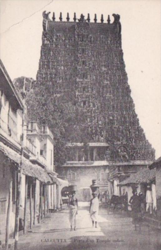 India Calcutta Porte d'un Temple indien