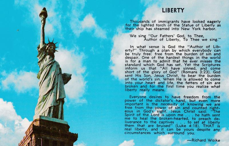 Statue Of Liberty Poem Of Richard Woike 1940 1960s