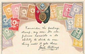Turkey, Stamps on Embossed Postcard, Unused, Published by Ottmar Zieher