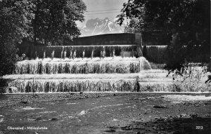 Oberstdorf Muhlenbrucke Cascade Mountain Postcard