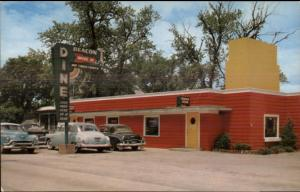 Beacon Drive-In Restaurant Diner 1950s Cars Postcard