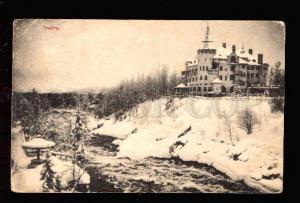 028720 FINLAND IMATRA Palace & river view Vintage PC