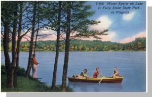 Bassett,Virginia/VA Postcard, Fairy Stone Park/Lake,Nr Mint!