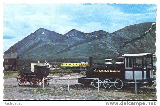 Old & New Yukon Transportation including Railroad at Carcross Yukon, Chrome