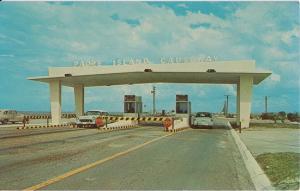 CORPUS CHRISTI TX - PADRE ISLAND TOLL GATE 1950s DEMOLISHED