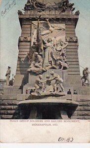 Peace Group Soldiers And Sailors Monument Indianapolis Indiana 1908