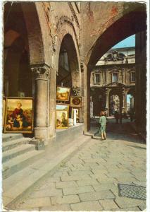 Italy, Milano, Piazza Mercanti, Passaggio Scuole Palatine, 1971 used Postcard