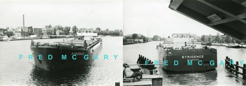 1987 River Spaarne Netherlands 2 Photos of Coastal Ship 'Stridence / Rochester'