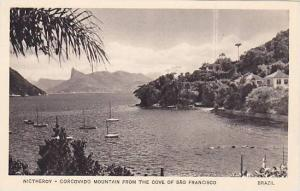 Boats, Nictheroy- Corcovado Mountain From The Cove Of Sao Francisco, Brazil, ...