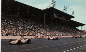 Car Racing Track Wisconsin State Fair Milwaukee WI 1972 postcard