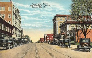 LPS52 Kansas City Missouri Troost Ave. North from Linwood and Troost Postcard