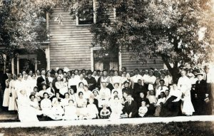 Ginormous Family Reunion Kids Generational Vintage Real Photo RRPC Post Card