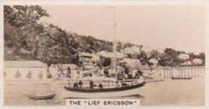 Carreras Vintage Cigarette Card Notable Ships 1929 No 5 Leif Ericsson's Ship