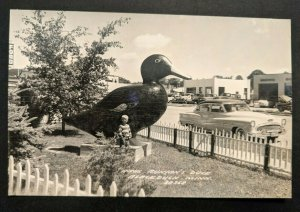 Mint Vintage Blackduck Minnesota Paul Bunyans Duck Real Picture Postcard