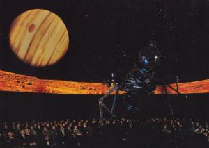 Jupiter From Mars Lecture Exhibit London Planetarium 1970s Astronomy Postcard