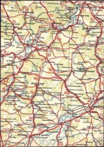 germany, REGENSBURG, Bavaria, MAP Postcard (1940s)